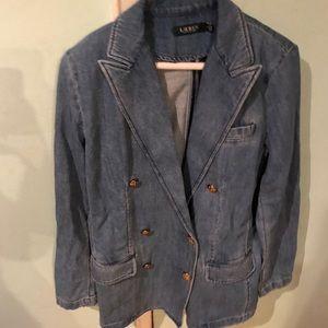 Ralph Lauren double breasted  jean blazer. Size 8